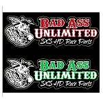 Bad Ass Unlimited Vinyl Stickers