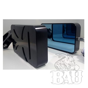 Billet Iron Cross Exterior Rear View Mirrors-