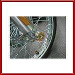 Motorcycle .38 Caliber Harley Davidson Axle Covers
