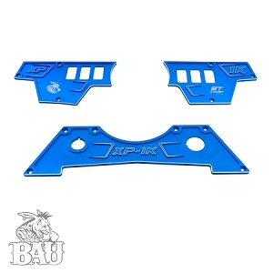 POLARIS RZR XP 1000 UPPER AND LOWER DASH PLATES - 6 SWITCH HOLES (COPY)