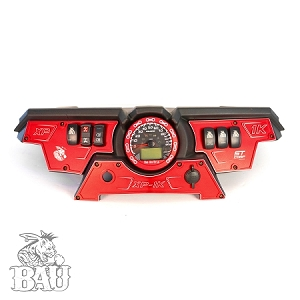 POLARIS RZR XP 1000 UPPER AND LOWER DASH PLATES WITH SPEED ODOMETER BEZEL WITH 4 SWITCHES