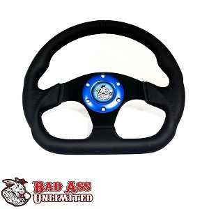 D-RING LEATHER STEERING WHEEL-6 HOLE