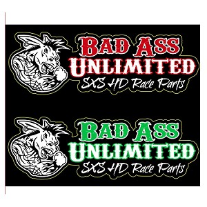 Bad Ass Unlimited Stickers