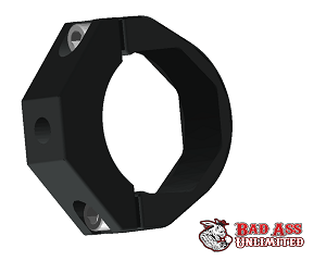 BILLET ROLL CAGE CLAMP ANODIZED BLACK