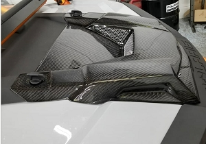 Polaris RZR Carbon Fiber Hood - Glazzkraft Industries