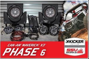 2017-2019 CanAm X3 Complete Kicker 6-Speaker Plug-and-Play System X3-6K